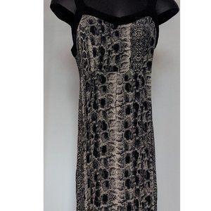 Rattlesnake print split maxi dress Bycorpus UO